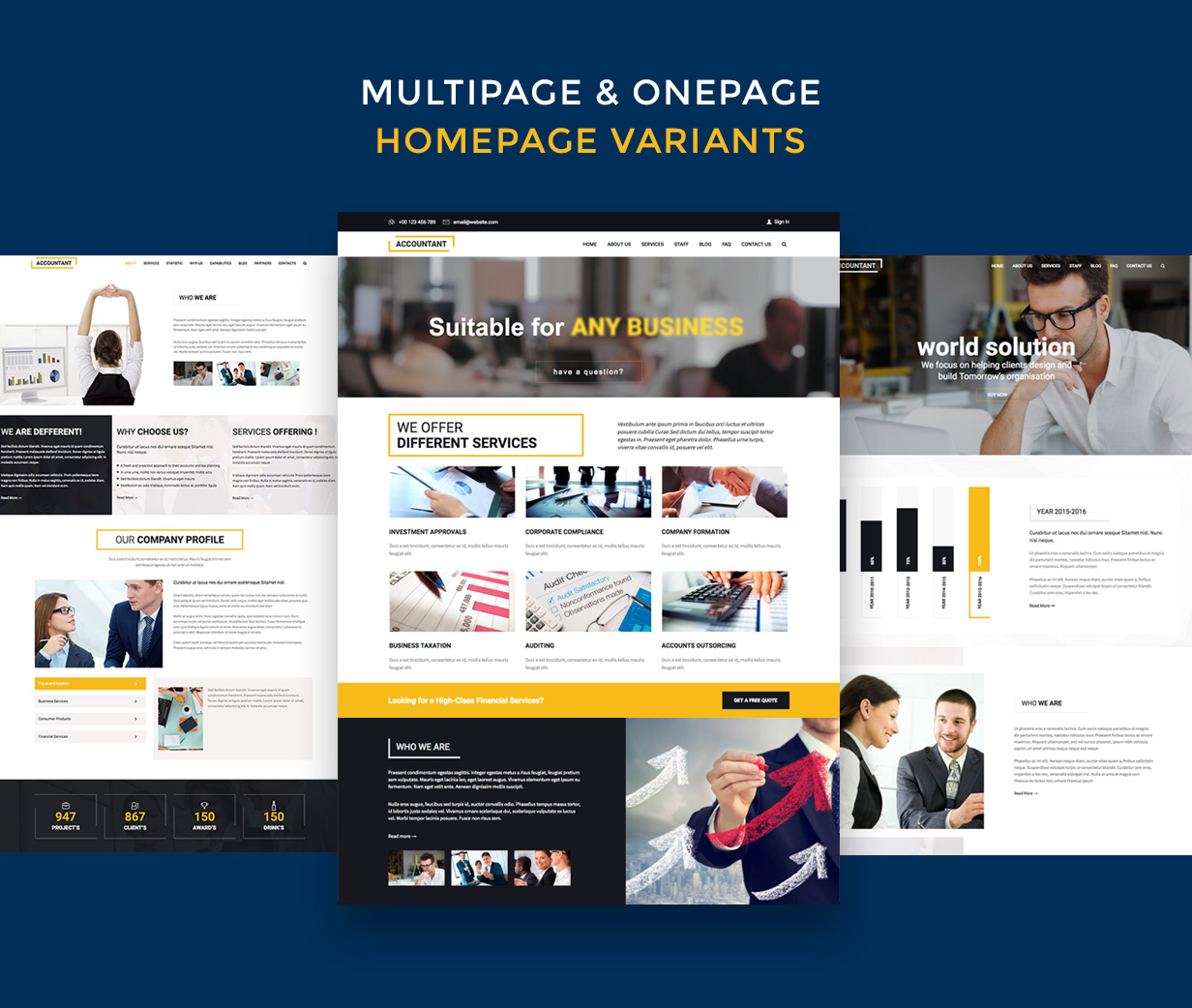 Accountant — Accounting WordPress Template - 4