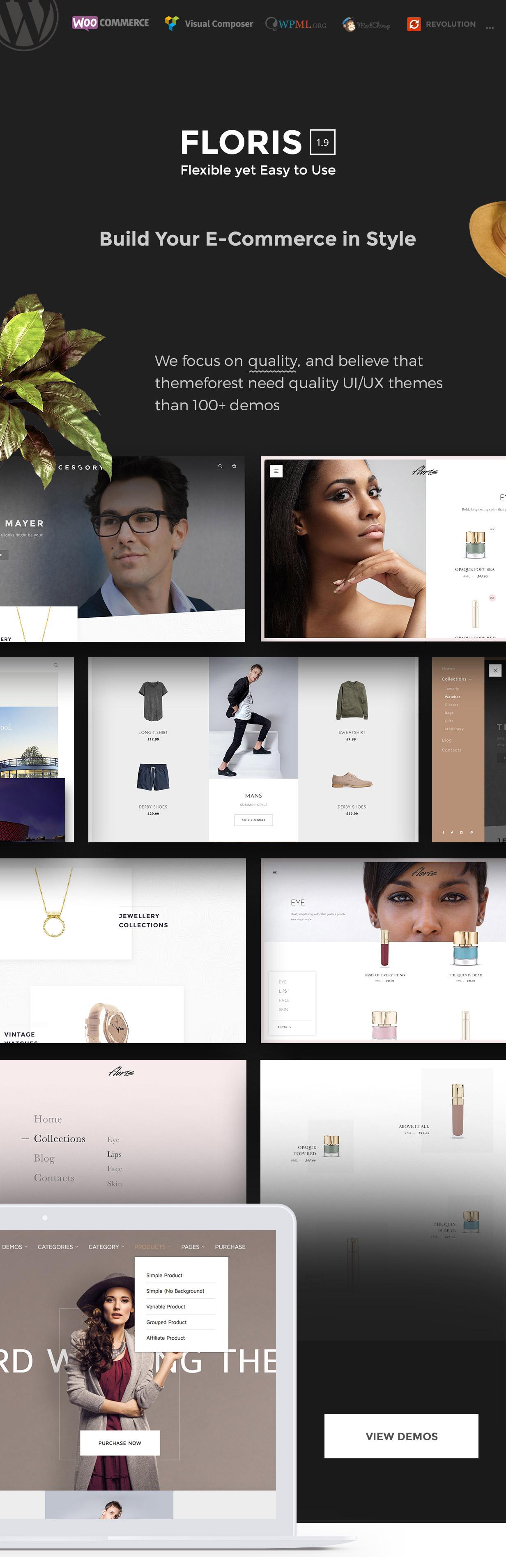 Floris — Fashion Shopping WordPress Theme - 4